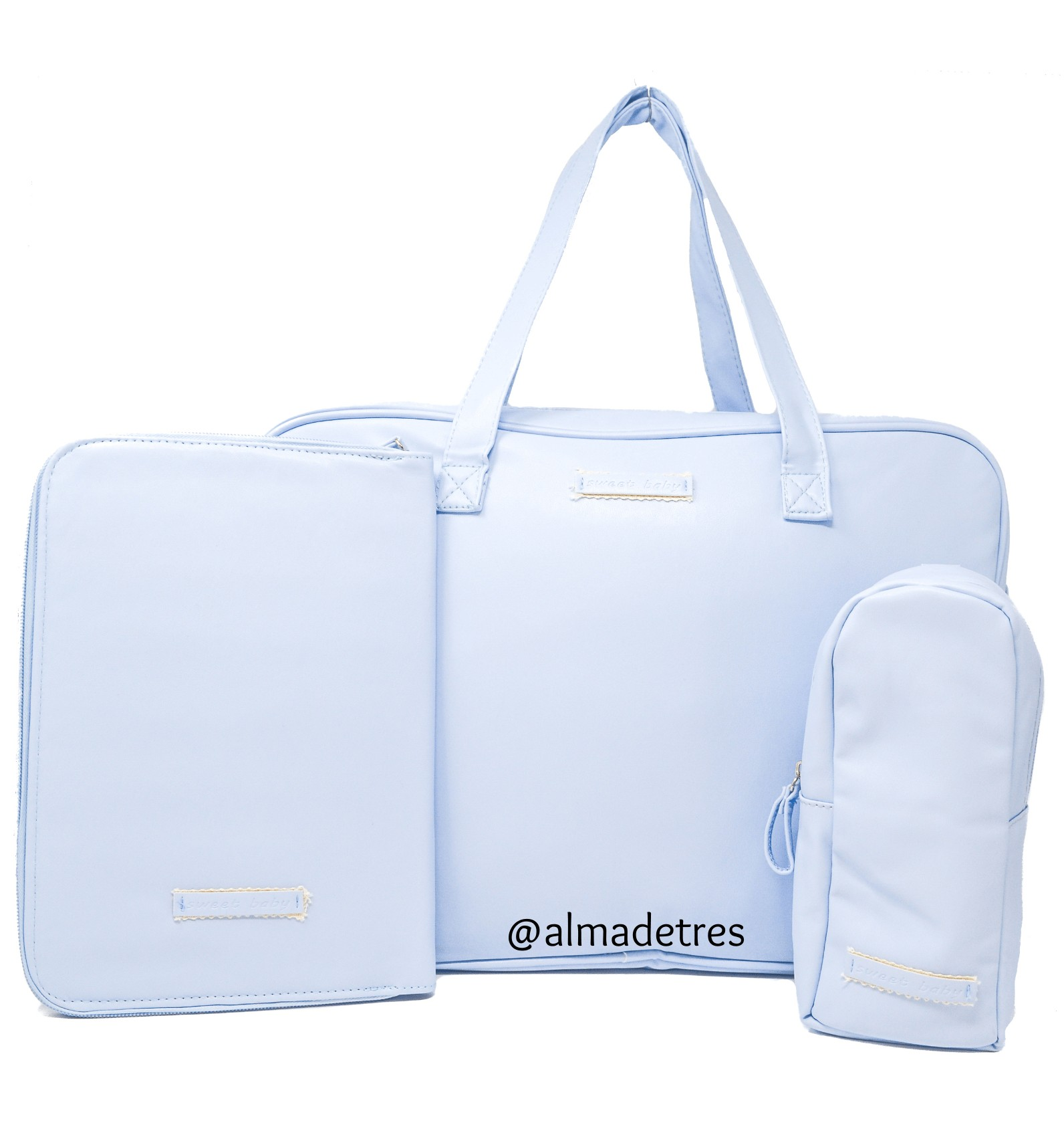 Bolso maternal bebé, Funda cartilla sanitaria, Guarda biberones